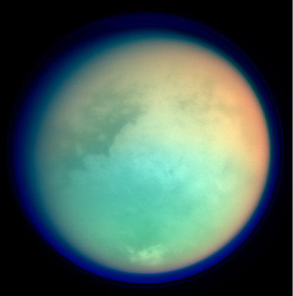 Titan's surface in false color